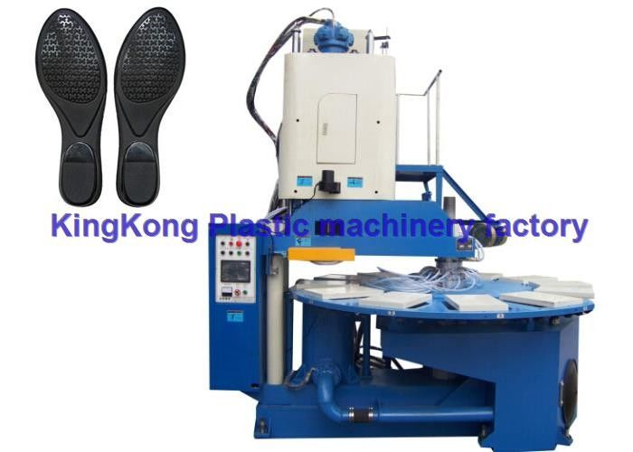 Vertical Football Shoe Sole Making Machine  , Sole Injection Molding Machine For TPU Sole